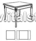 Стол квадратный, раздвижной (Art.1457V2/T) - Montalcino