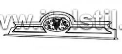 Надставка для буфета с декором (Art.1460V2) - Montalcino