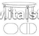 Стол овальный, раздвижной (Art.1488V2/T) - Montalcino