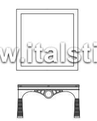 Столик кофейный с деревянным топом (Art. AT223/L) - Misor