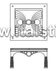 Столик кофейный со стеклянным топом (Art. AT223/V) - Misor