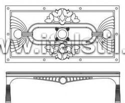 Столик кофейный со стеклянным топом (Art. AT226/V) - Misor