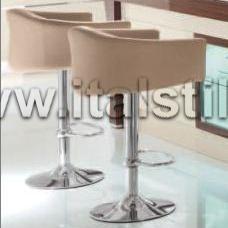 Барный стул в коже (Art. 400/L) - RedecoHome