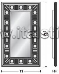 Зеркало настенное SILVER EYES_120  - итальянская мебель для TV