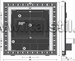 Стойка-рама для домашнего кинотеатра SILVER EYES - итальянская мебель для TV