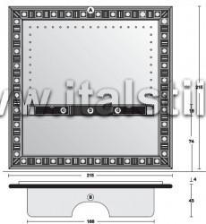Стойка-рама для домашнего кинотеатра с зеркалом SILVER EYES - итальянская мебель для TV